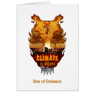 A postcard for atheist environmentalists greeting card