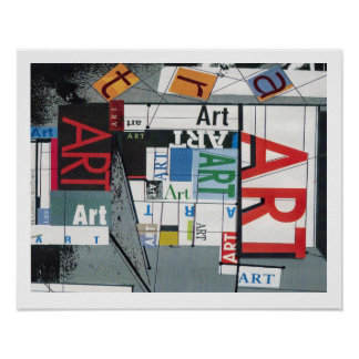 A poster with the words ART everywhere