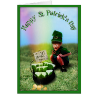 A Pot O' Beer at the of the Rainbow! Greeting Card