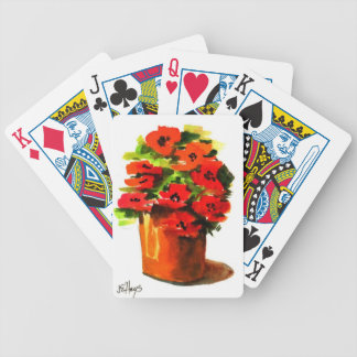 A Pot of Red Poppies Bicycle Playing Cards