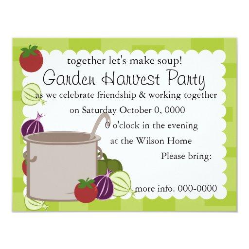 A Pot Of Soup Personalized Announcements