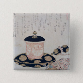 A Pot of Tea and Keys, 1822 Button