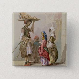 A pot seller, c.1855 button