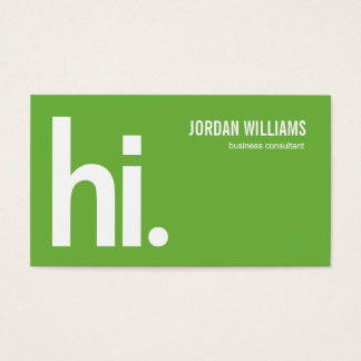 A Powerful Hi - Modern Business Card - Green