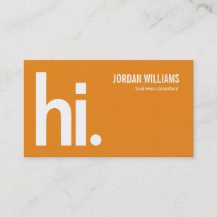 Powerful business cards templates zazzle a powerful hi modern business card orange colourmoves
