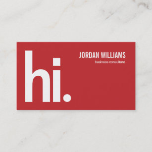 a powerful hi modern business card red