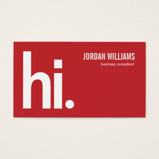 A powerful hi modern business card red zazzle a powerful hi modern business card red colourmoves Choice Image