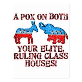 A Pox on Elites Postcard