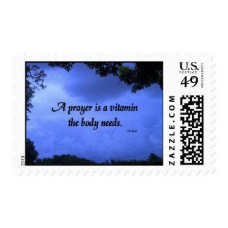 A prayer clouds stamp