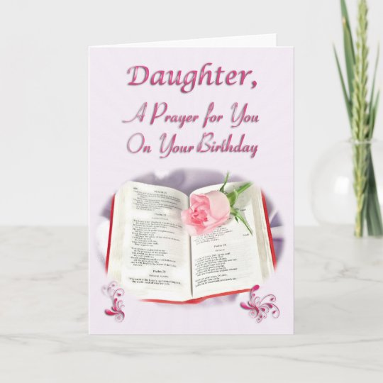 A Prayer For Daughter On Her Birthday Card