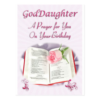 A prayer for a Goddaughter on her Birthday Post Cards