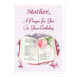A prayer for a Mother on her Birthday Postcard