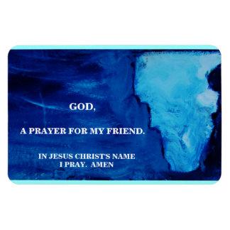 A PRAYER FOR MY FRIEND RECTANGULAR PHOTO MAGNET
