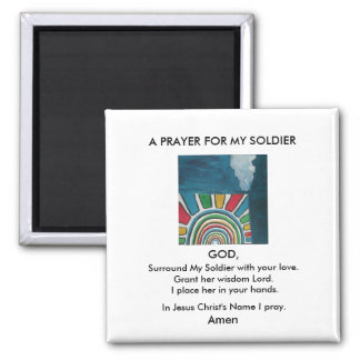 A PRAYER FOR MY SOLDIER MAGNET