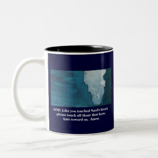 A PRAYER FOR OUR ENEMIES Two-Tone COFFEE MUG