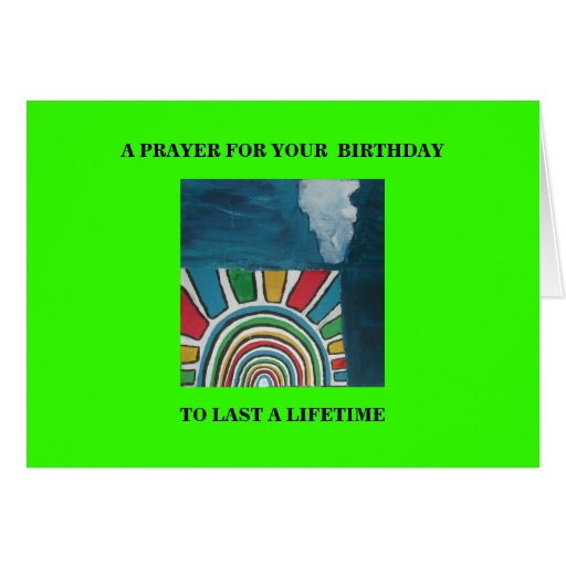 A PRAYER FOR YOUR BIRTHDAY GREETING CARD