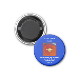 A PRAYER FOR (YOUR TEXT) 1 INCH ROUND MAGNET
