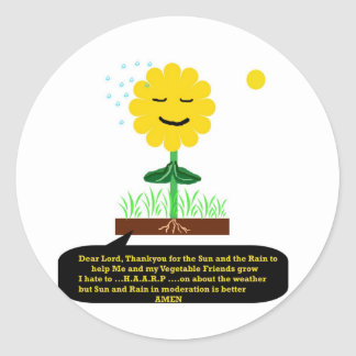 """A Prayer from a Flower""* Round Stickers"