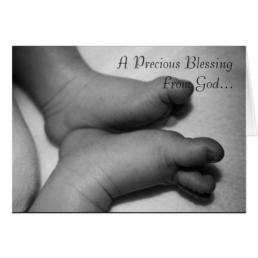 A precious blessing from god greeting cards