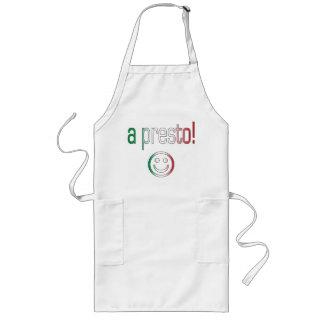 A Presto! Italy Flag Colors Long Apron