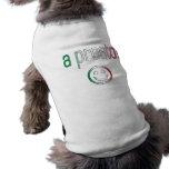 A Presto! Italy Flag Colors Pet T Shirt