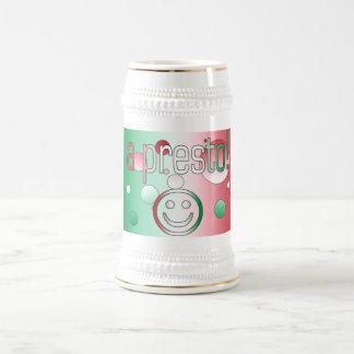 A Presto! Italy Flag Colors Pop Art Beer Stein