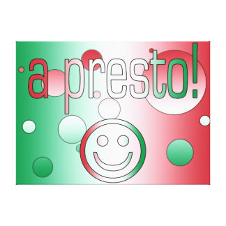A Presto! Italy Flag Colors Pop Art Gallery Wrapped Canvas
