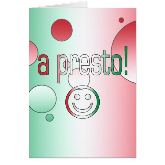 A Presto! Italy Flag Colors Pop Art Card