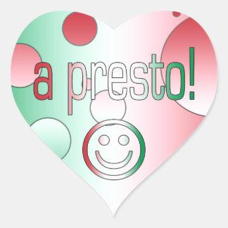 A Presto! Italy Flag Colors Pop Art Heart Sticker