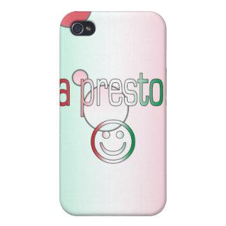 A Presto! Italy Flag Colors Pop Art iPhone 4 Cases