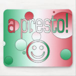 A Presto! Italy Flag Colors Pop Art Mouse Pad