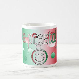 A Presto! Italy Flag Colors Pop Art Mugs