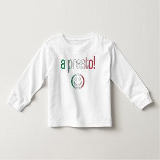 A Presto! Italy Flag Colors Tee Shirt