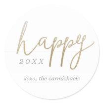 A Pretty Happy New Year Personalized Sticker