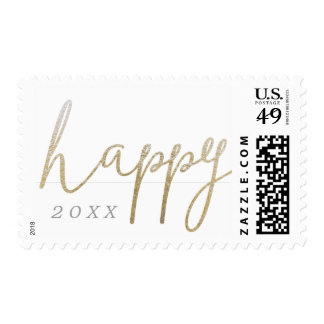 A Pretty Happy New Year Postage Stamp