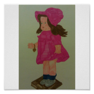 A Pretty Pink Dress Doll Poster