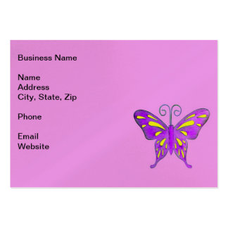 A Pretty Purple and Yellow Butterfly Business Card Templates