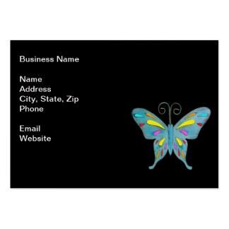A Pretty Teal Butterfly with Colorful Accents Business Card