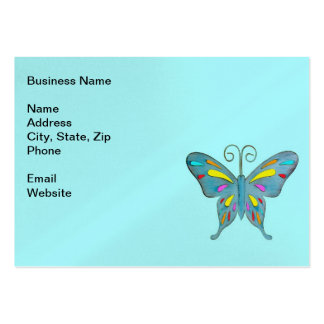 A Pretty Teal Butterfly with Colorful Accents Business Card Templates