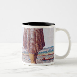 A Priest from Secoton in Virginia Two-Tone Coffee Mug