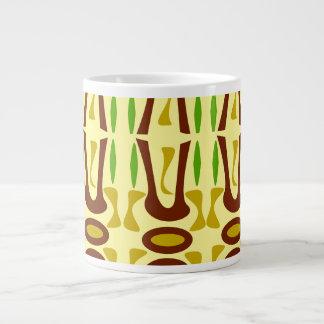 A Primal Jungle Pattern Large Coffee Mug