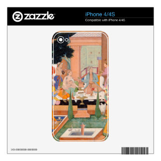 A prince and companions take refreshments and list skin for the iPhone 4