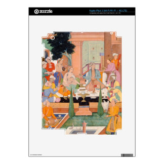A prince and companions take refreshments and list skins for iPad 3
