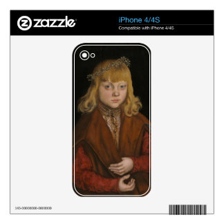 A Prince of Saxony, c.1517 (oil on panel) iPhone 4 Skin
