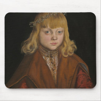 A Prince of Saxony, c.1517 (oil on panel) Mouse Pad