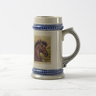 A Prince of the Blood by Ives Horse Head Beer Stein