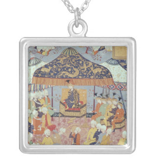 A Princely Reception Silver Plated Necklace