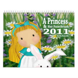 A Princess and Her Paintbrush  2011 Calendars