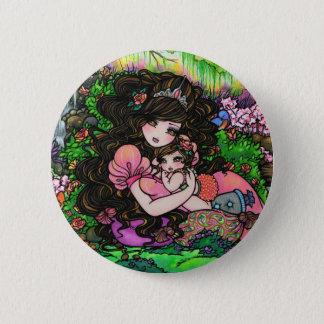 """A Princess is Born"" Fantasy Baby Art Hannah Lynn Pinback Button"