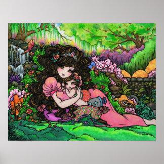 """A Princess is Born"" Fantasy Baby Art Hannah Lynn Poster"